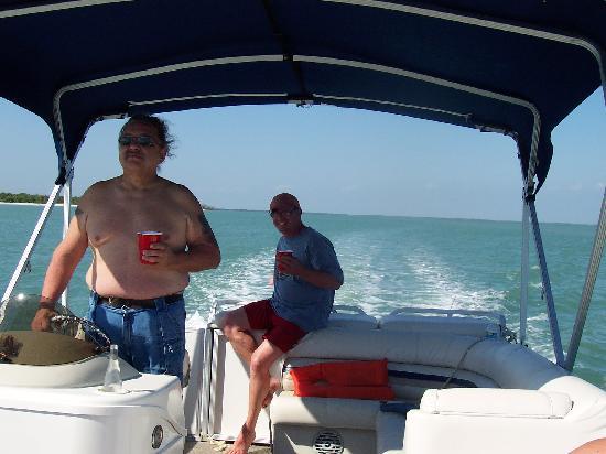 Isles of Capri Marina: On the boat near Cape Romano