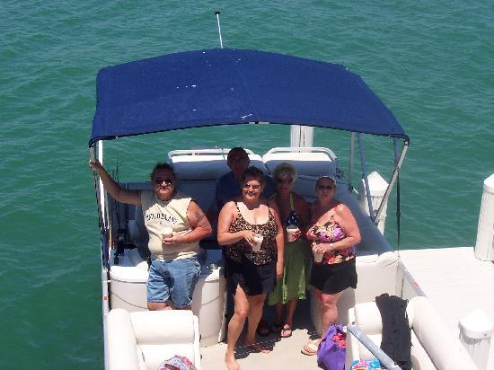 Isles of Capri Marina: On the boat at Snook Inn