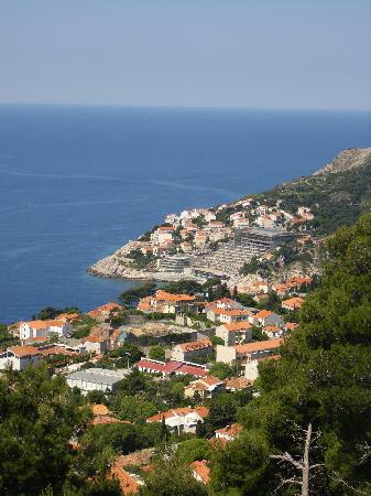 Rixos Hotel Libertas: the hotel as viewed from the moutain over looking Dubrovnik