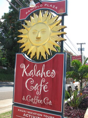 Kalaheo Cafe & Coffee Company: The Sign to look for as you enter Kalaheo