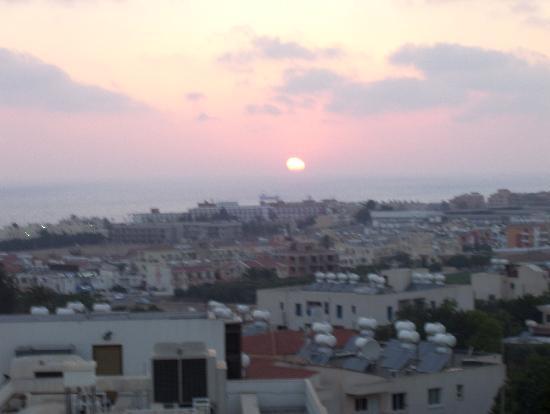 Axiothea Hotel: Sunset from the balcony