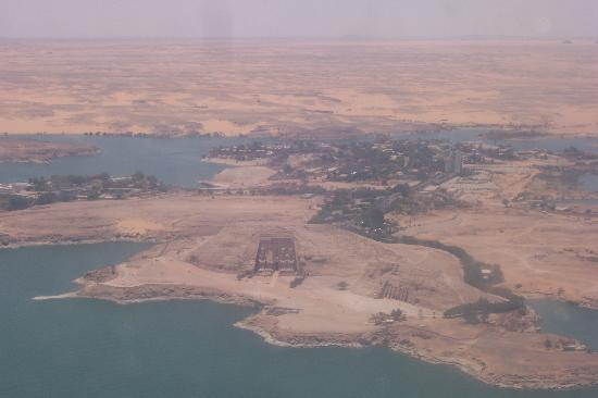 View of the temples from the plane