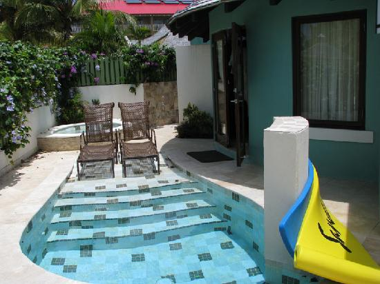 Plunge pool with jacuzzi in the background picture of for Plunge pool