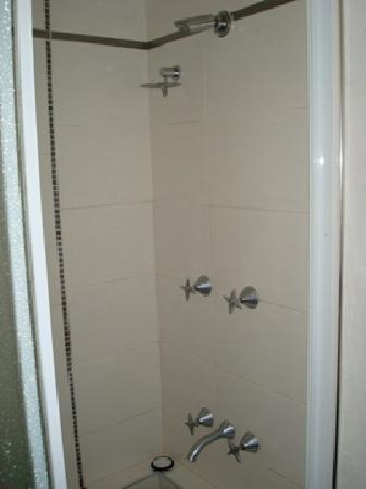 SandCastles Apartments: The shower in the bathroom