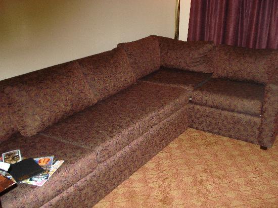 Chisholm Suite Hotel: sofa, very uncomfortable