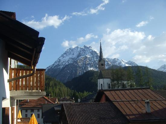 Hotel Conrad Scuol: View from the hotel room