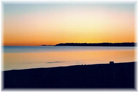 Crystal Beach, Canada: sunset