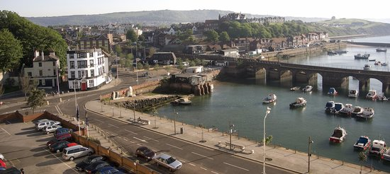 Folkestone, UK: View of the harbour from the 5th florr