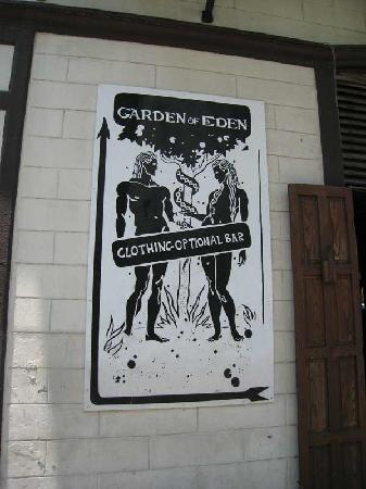 Street Level Sign Picture Of Garden Of Eden Key West Tripadvisor