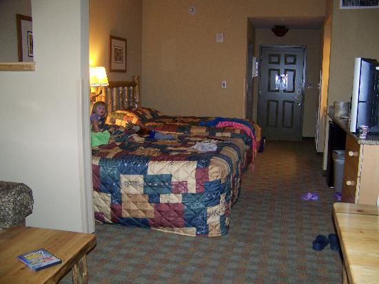 Great Wolf Lodge: Room with two queen beds and a sleeper sofa - pretty plain