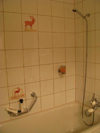 Hotel Hirschen: Shower and Bath