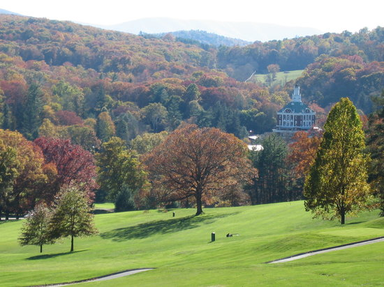 The Omni Homestead Resort: view from the trail