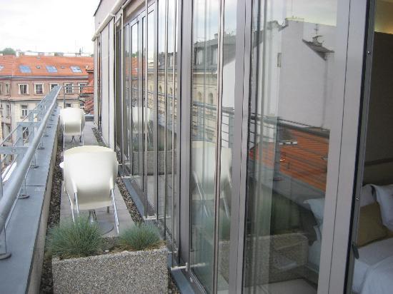 Design Hotel Josef Prague: terrasse