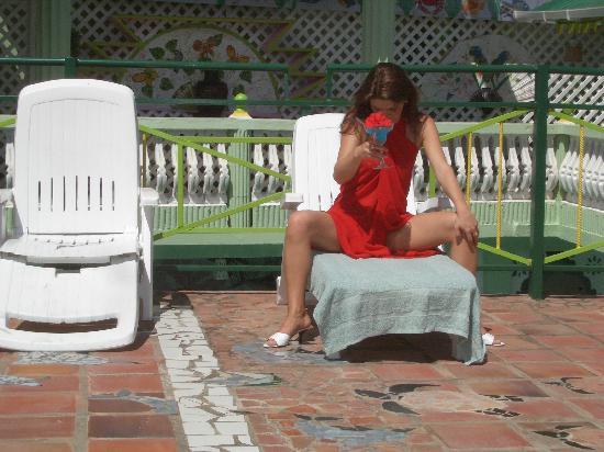 Villa des Pitons: Ein Drink auf dem Sonnendeck
