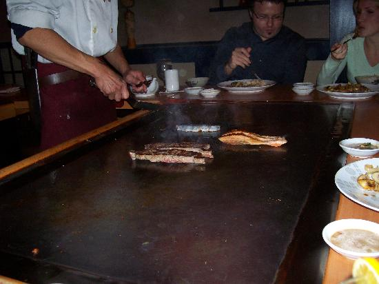 Japanese Village: The delicious food being made right on your table