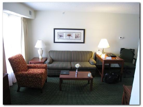 "Residence Inn Oklahoma City South/Crossroads Mall : Living room with ""hide-a-bed"""