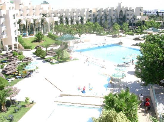 Nahrawess Hotel : la vista de la habitacion