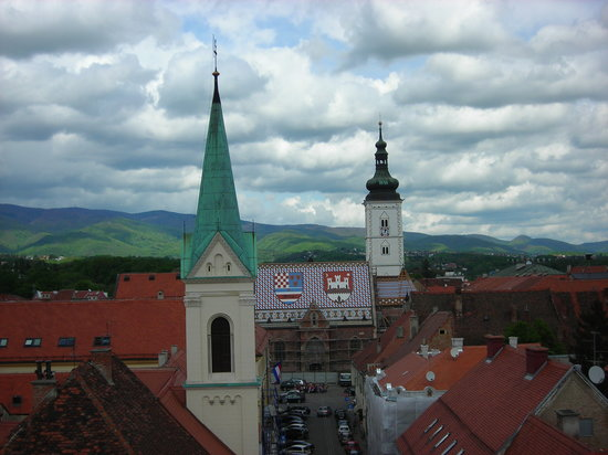 Zagreb, Kroatien: view from the top