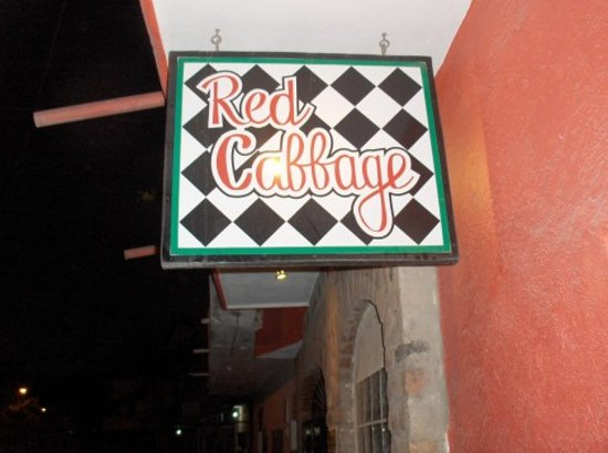 Red Cabbage Cafe: Red Cabbage Sign