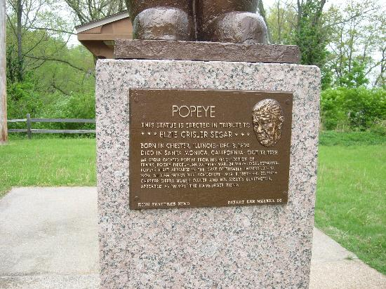 Chester, IL: Close Up of Popeye Statue History