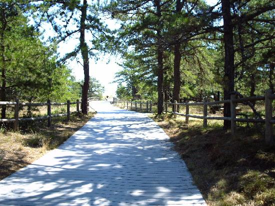 Saco, ME: The boardwalk leading up to the beach, a short, pleasant walk