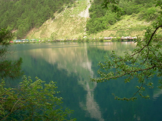 "Jiuzhaigou County, Kina: it is called ""hai zi"",neans the child of the sea"