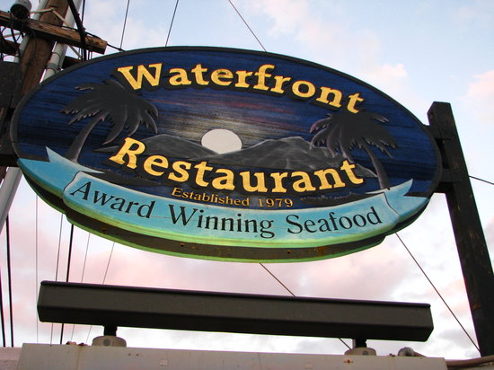 Waterfront Restaurant : The sign