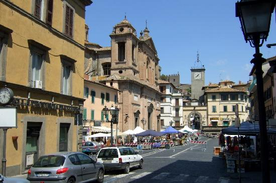 Palazzo Catalani: The only level spot in this hill town - the central plaza.