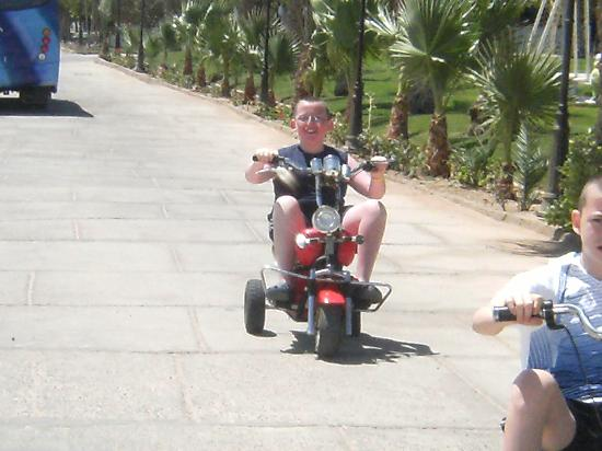 Sultan Gardens Resort: the lads on the motor bikes