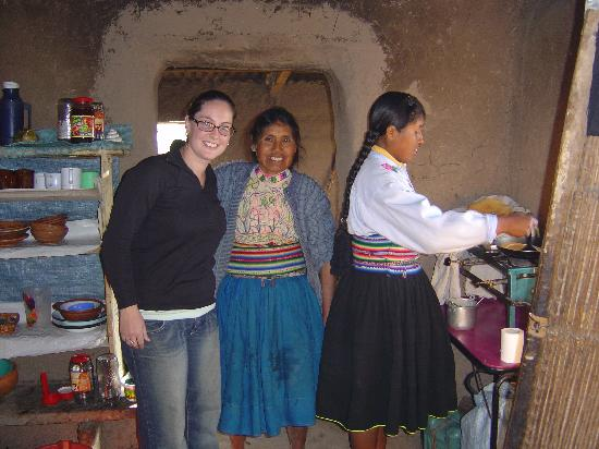 Isla Amantani, Peru: The kitchen