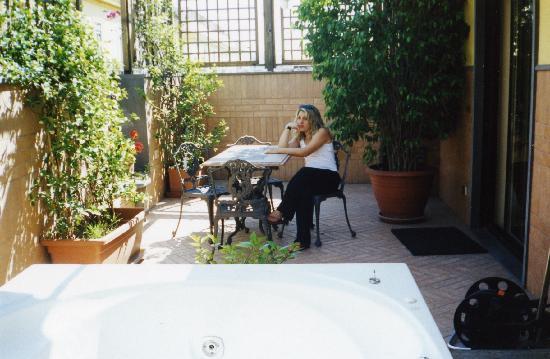 Hotel Suite Esedra : il salottino personale sulla terrazza