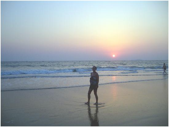 me on utorda beach goa