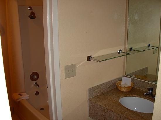 Best Western Oceanside Inn: The sink and shower.