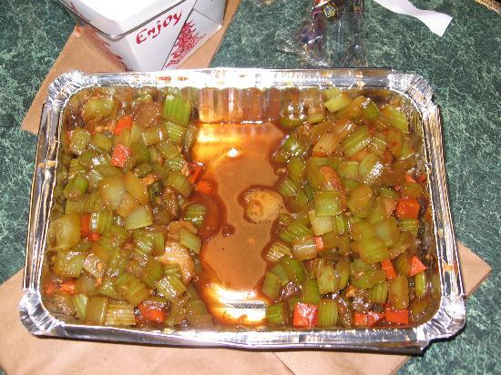 Lee's Garden Chinese Restaurant: celery content split