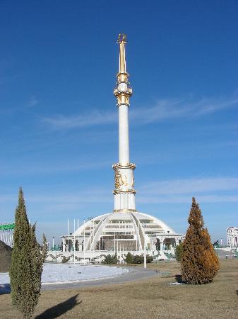 Turkmenbashi, Turkmenistan: monument