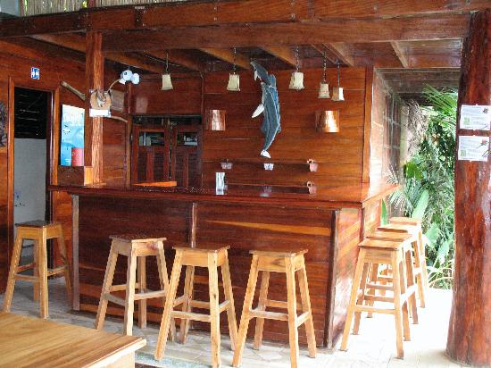 Jinetes de Osa Hotel: The bar and dinner area.
