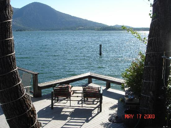 The Bungalow: View of Clear Lake from Deck