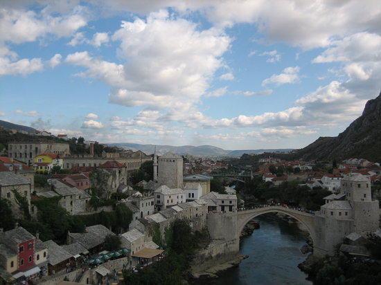 Mostar, Bosna Hersek: Old Bridge (Stari Most), August 2007