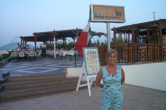 Sultan Gardens Resort: Evening meal at the Italian restaurant
