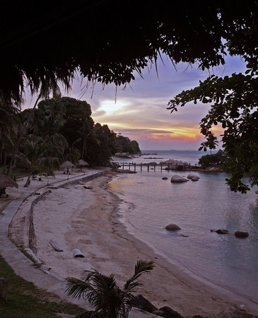 Nongsa, Indonesië: Sunset in front of Turi Resort.