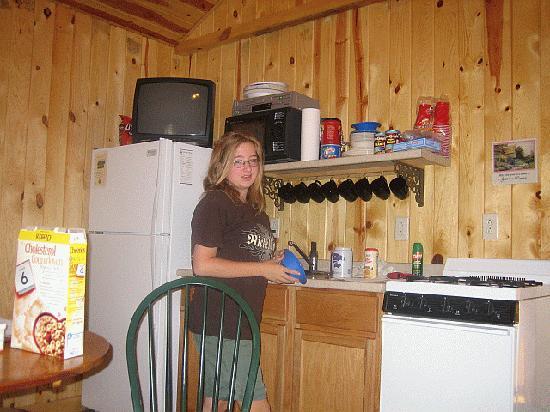 Pine Rest Cabins: Kitchenette