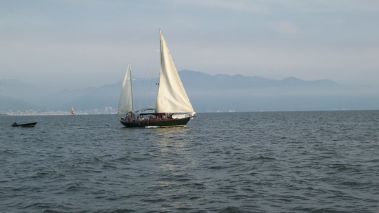 Nuevo Vallarta, Meksika: Sailboat in the bay