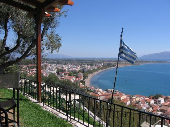 Naupactus, Greece: View from castle towards the Gulf