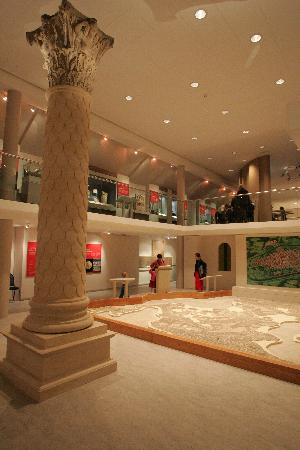 Corinium Museum: The Roman Gallery - complete with reconstruction of a Jupiter column!