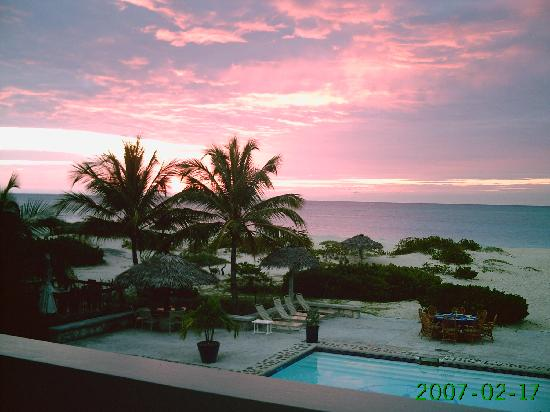 The Meridian Club Turks & Caicos: Sunset from the Roof Bar at the Clubhouse