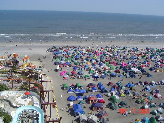 Wildwood Beach Jam Tents Near The Ocean