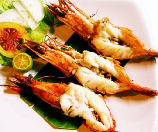 Fresh tiger prawn - Picture of Raja Sate Restaurant Manado ...