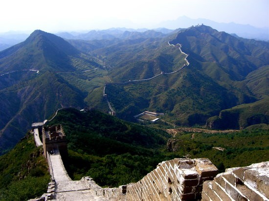 Luanping County, China: View from the Great Wall