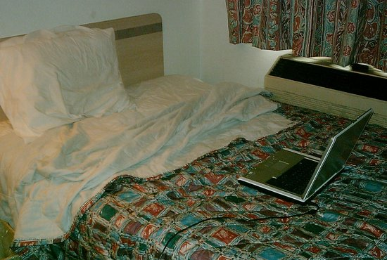 Motel 6 Monroe: Burnt Bedspreads
