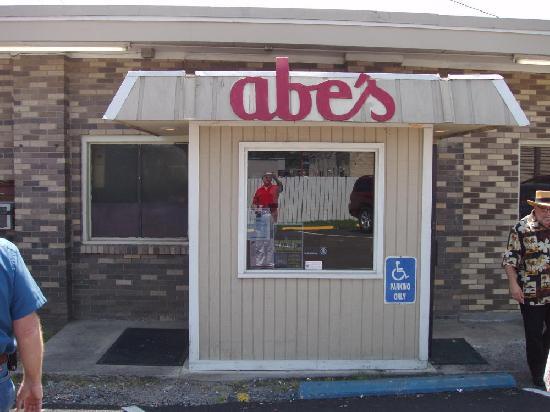 Abe's walking up